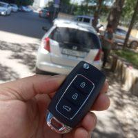 Запрограммировали новый выкидной автомобильный ключ Honda FIT