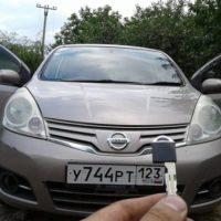 Изготовление автомобильного чип ключа для Nissan Note.