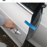 На этой фотографии была сделана выездная работа для вскрытия автомобильного замка AUDI с системой двойного запирания.